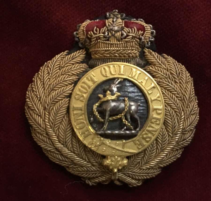 Royal Warwickshire Regt Officers Forage Cap Badge Variant