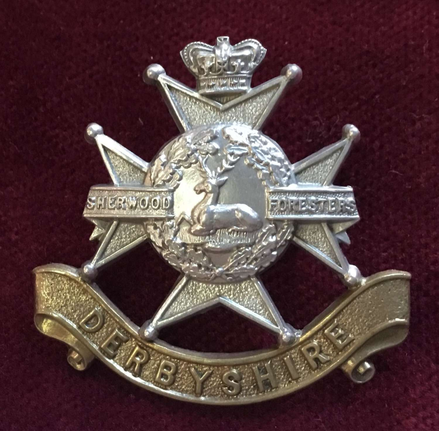 Sherwood Foresters (Derbyshire) Regt Cap Badge