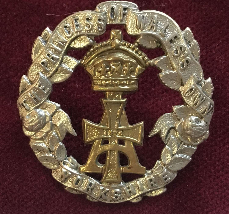 (Alexandra) Princess of Wales Own (Yorkshire) Regt Cap Badge