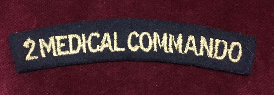 No. 2 Medical Commando embroidered Shoulder Title