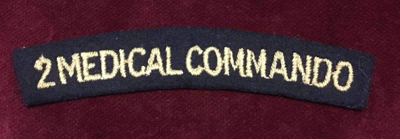 No. 2 Medical Commando embroidered Shoulder Title