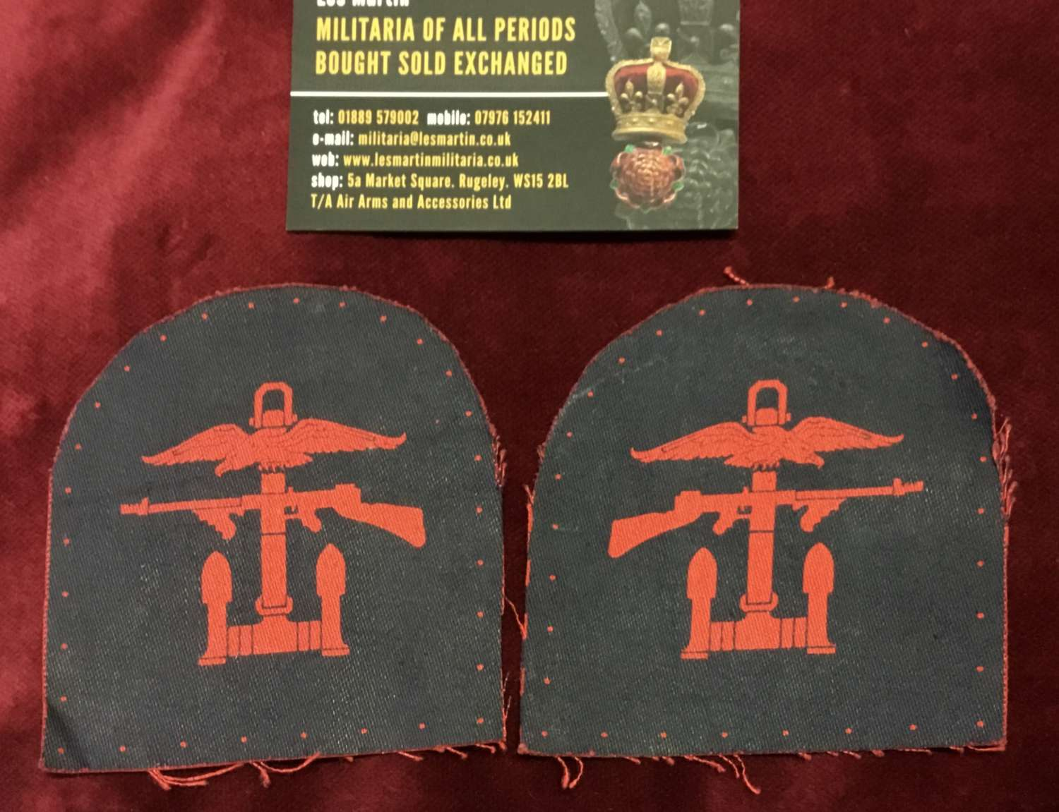 Combined Operations Arm Patch Pair