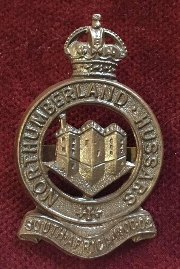 Northumberland Hussars Officers Service Dress Cap Badge