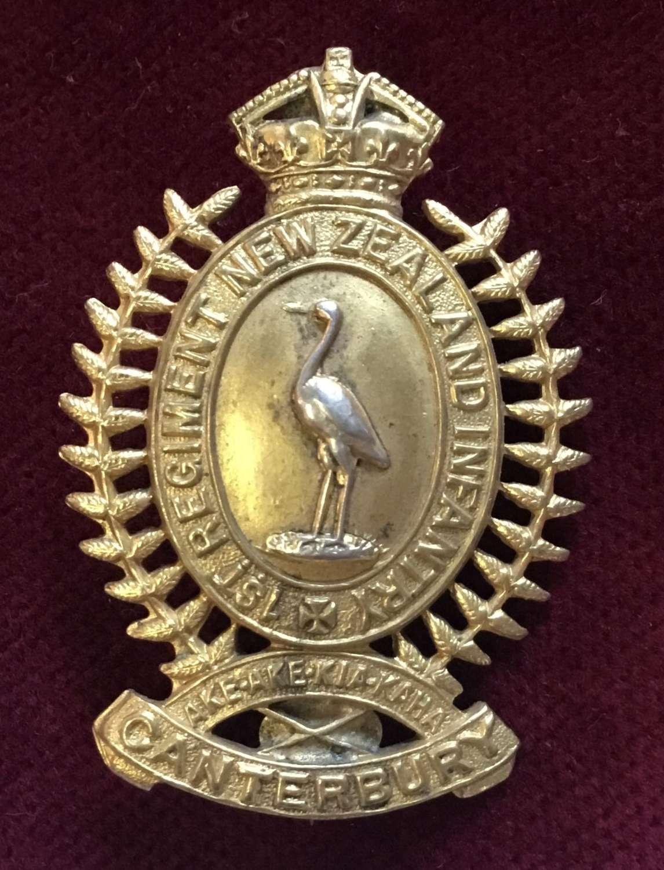 1st (Canterbury) Bn New Zealand Infantry Regiment Cap Badge