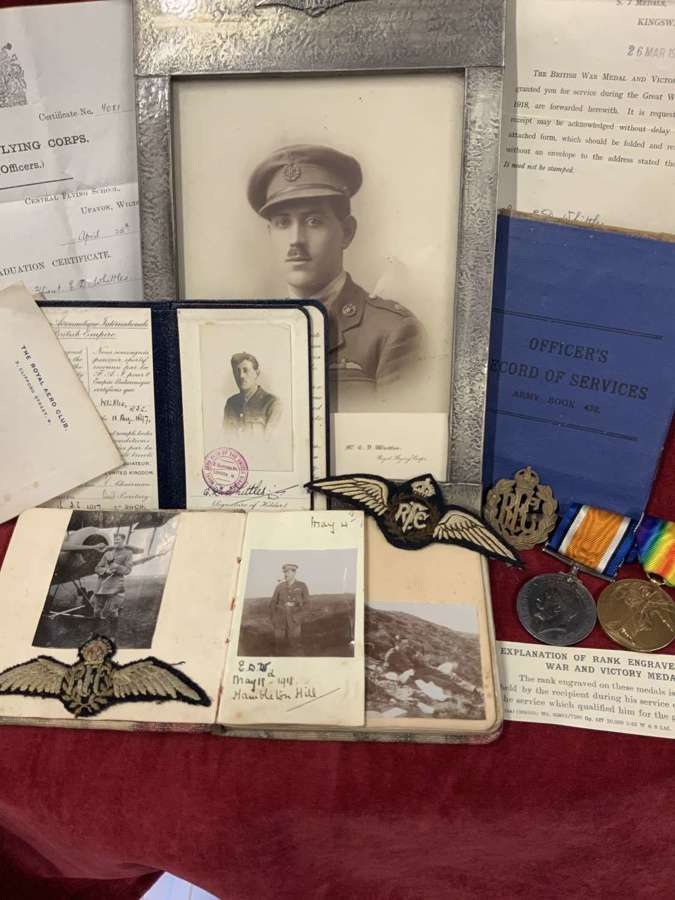 Royal Flying Corps Ephemera and Medal group