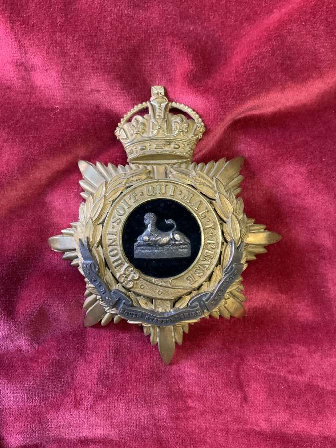 South Staffordshire Regiment Territorial Army, Officers Helmet Plate